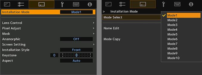 Installation Mode